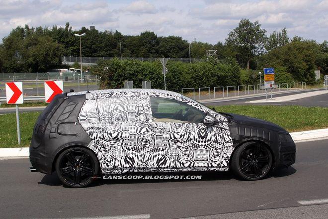 VW Golf R VII — испытания, шпионское фото 2